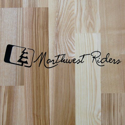Northwest Riders Cursive Sticker (Black)