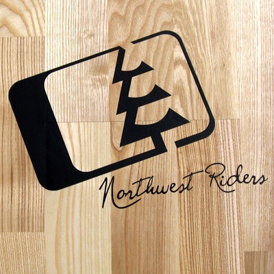 Northwest Riders Slant Black Sticker 1