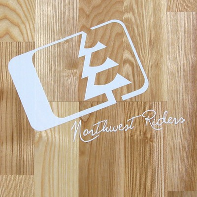 Northwest Riders Slant White Sticker