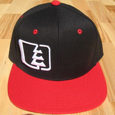 Northwest Riders Snapback Hat (black/red/white)