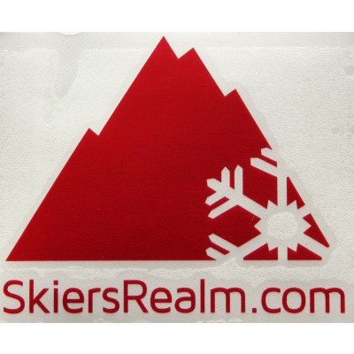 SkiersRealm Block Sticker Blood Red