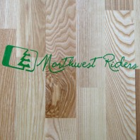 Northwest Riders Cursive Sticker (Green)