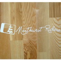 Northwest Riders Cursive Sticker (White)