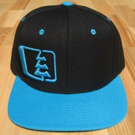 Northwest Riders Snapback Hat (black/Teal)